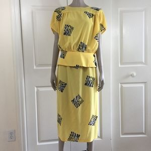 1980s Golden Girls style top and skirt vintage